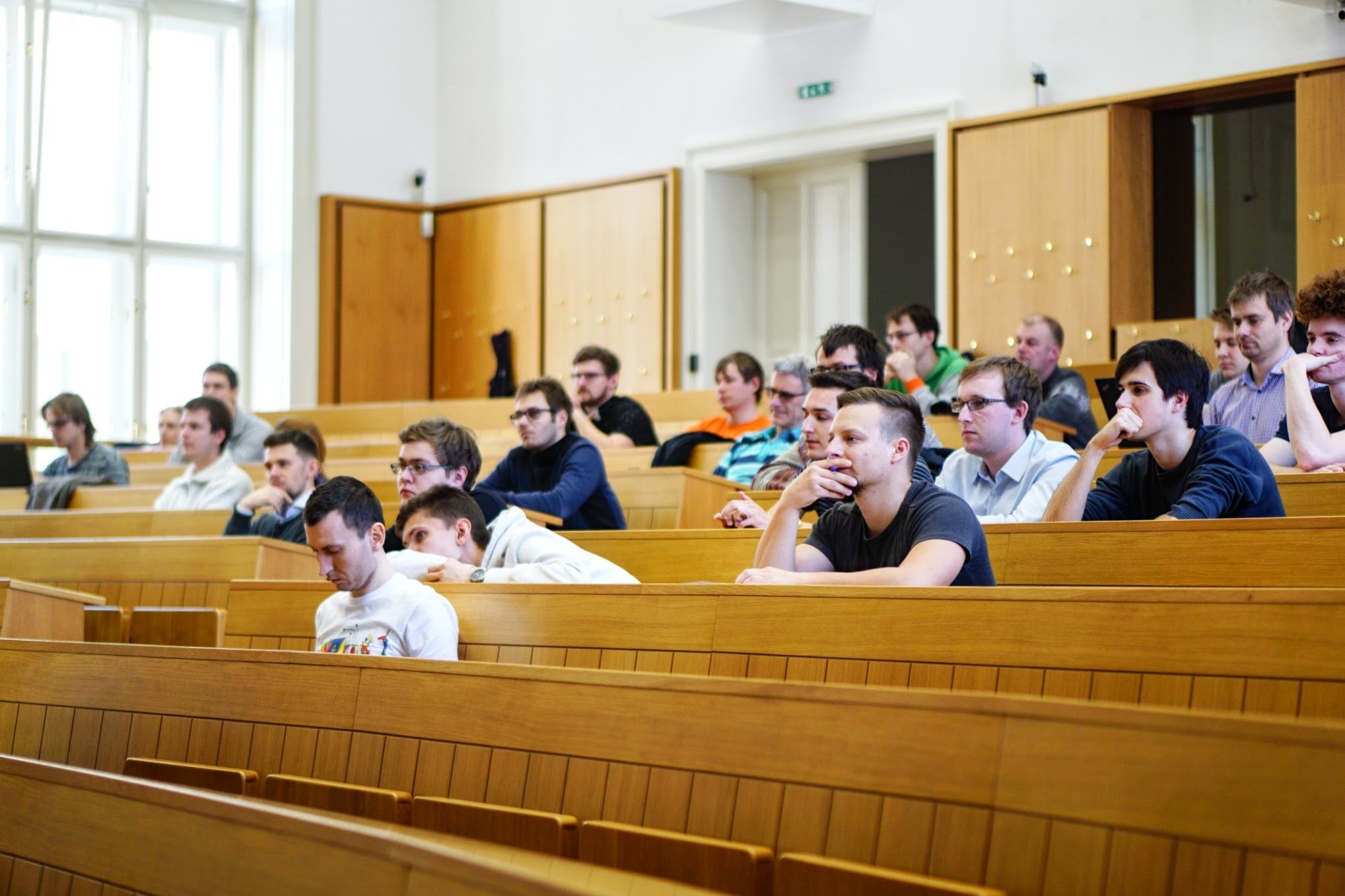 During the lecture
