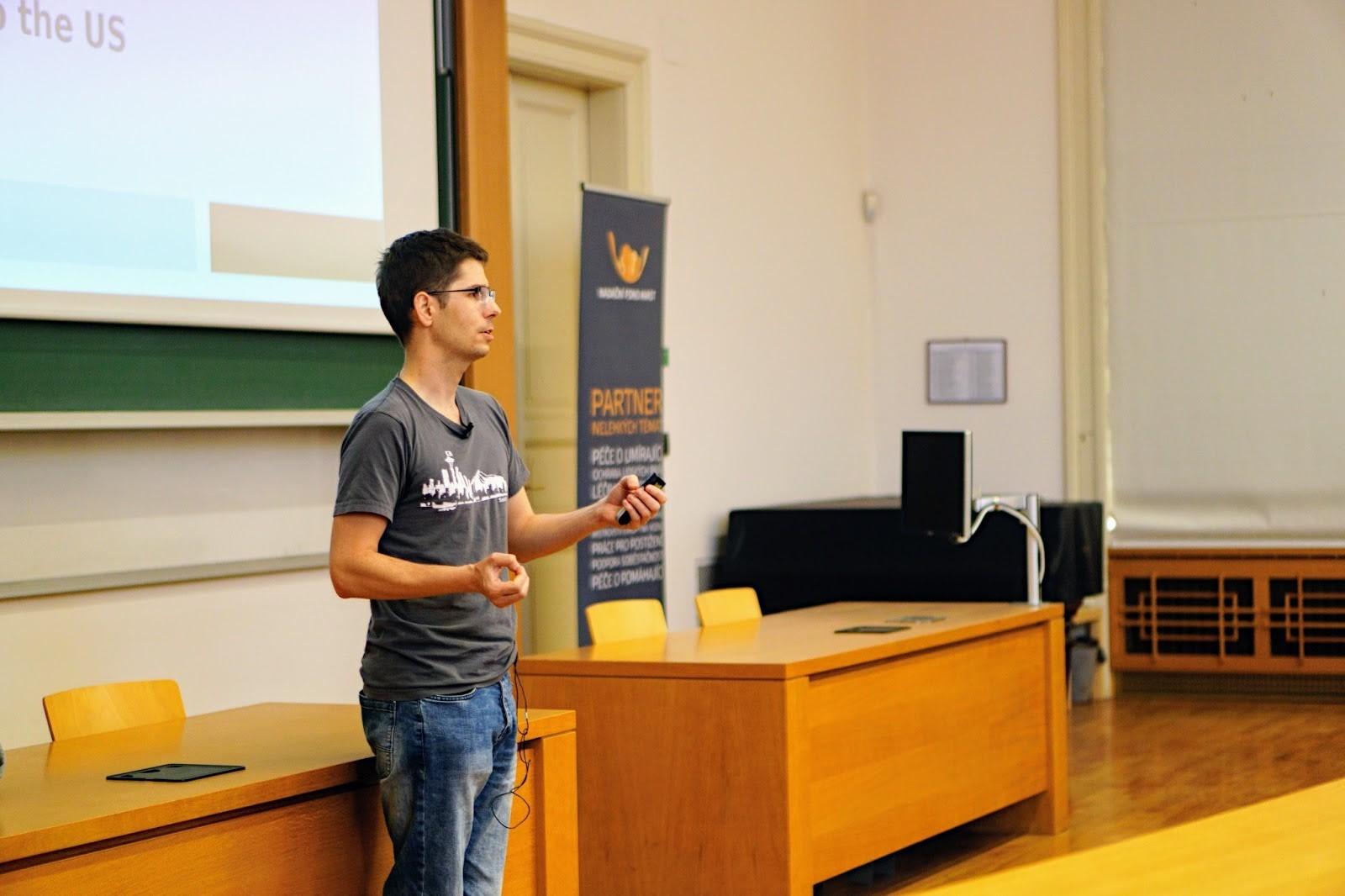 Ladislav Prošek giving the lecture